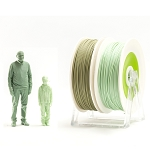 EUMAKERS PLA Filament Bio 2Life Light Green & Military Green 1.75mm - Made in Italy 1kg
