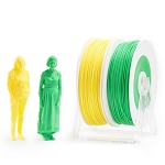 EUMAKERS PLA Filament Yellow & Green 2.85mm (3.00mm) - Made in Italy 1kg