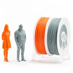 EUMAKERS PLA Filament Orange & Grey 1.75mm - Made in Italy 1kg
