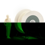 EUMAKERS PLA Photoluminescent Green Extra Power 1.75mm - Made in Italy 1kg